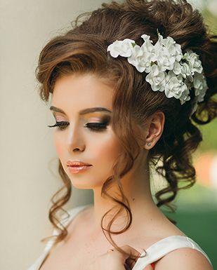 Фото свадебные прически с