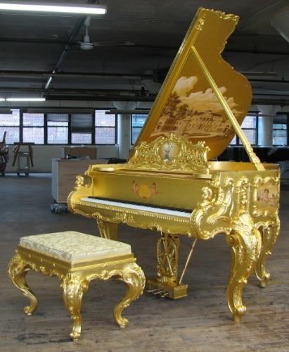 Dimitrios klitsas collaboration w/ steinway to reproduce piano in style of louis xv