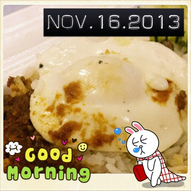 "#good #morning !!! #yawn !!! #happy #weekend !!! #stretch !!! #saturday #greeting !!! #breakfast = #nasi #lemak + #telur #mata ^_^ yet i still #feel #sleepy -_-"" #rubbing #eyes ^_^"