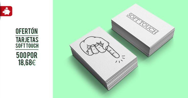¡OFERTÓN! 500 tarjetas con plastificado mate soft touch por sólo 18.68€ ¡No podrás dejar de acariciarlas! Aprovecha ahora esta super oferta, sólo hasta el 10 de abril. www.optimprint.com #tarjetasdevisita #oferta #promo #imprentaonline