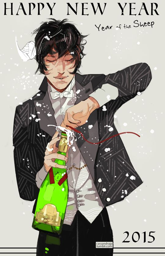James Herondale wishes you a happy new year, which will bring Shadowhunter Academy (and his own story in it), many snippets from TDA and TLH, and other surprises! Thanks for making my 2014 fabulous,...