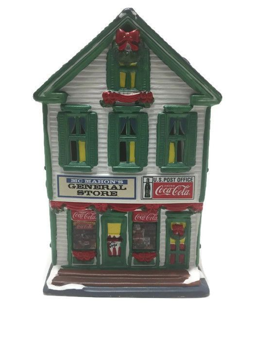 1994 Coca Cola Town Square Collection McMAHON'S GENERAL STORE Porcelain Lighted #TownSquare