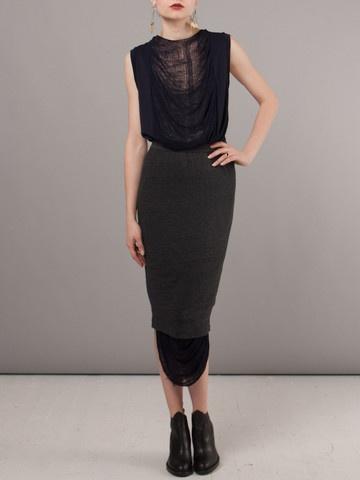 Raquel Allegra Black Pencil Skirt