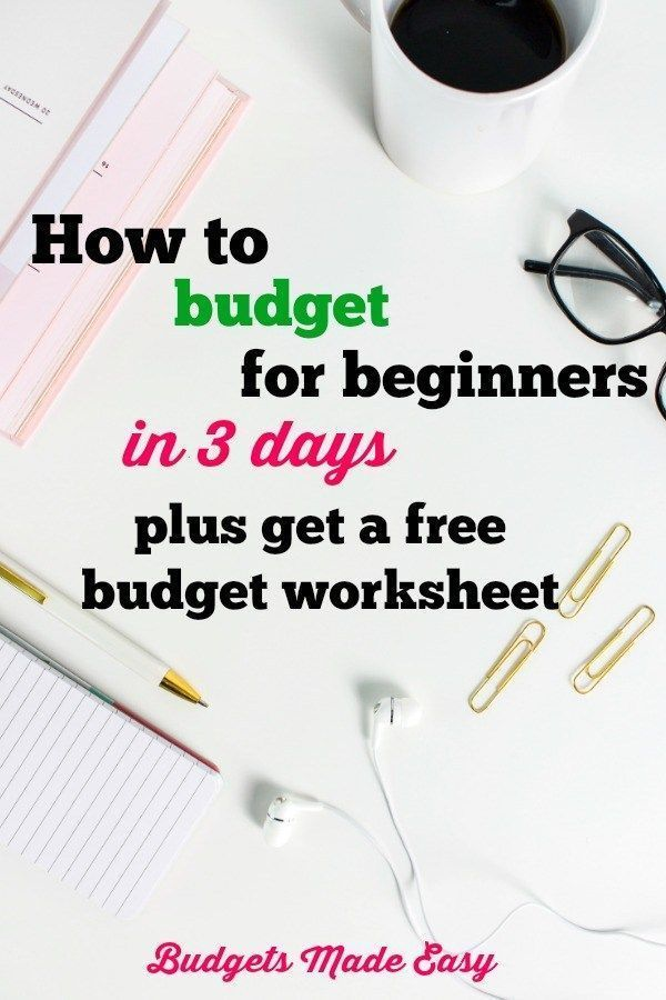 How to Budget for beginners in 3 days Budgeting for Families - simple budget