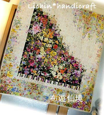 watercolor quilt 水彩畫鋼琴掛飾