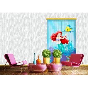 Ariel a kis hableány függöny #függöny #lakástextil #lakberendezés #gyerekszoba #ariel #hableány