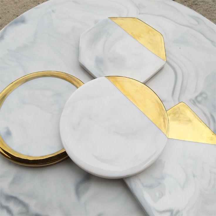 Marmor Wohnaccessoires Marmor Untersetzer / Tasse Matten / Becherhalter In Matten Und Pads