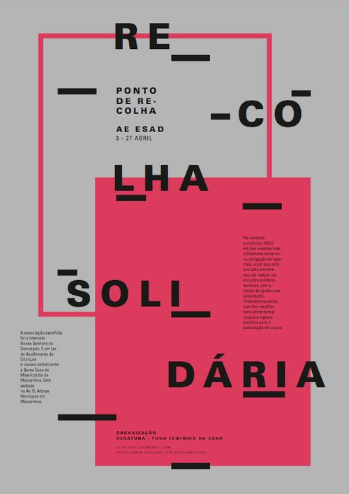 pluspluscollective:  Recolha Solidária http://www.behance.net/joanarajao http://www.behance.net/gallery/Recolha-Solidaria/8065467