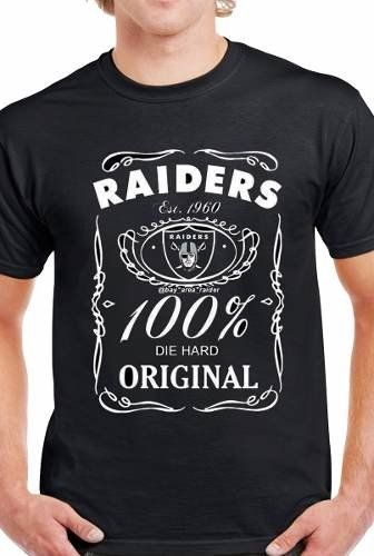 Playera Oakland Raiders Roaster Jack Daniels Etiqueta  d29f4b26322b7