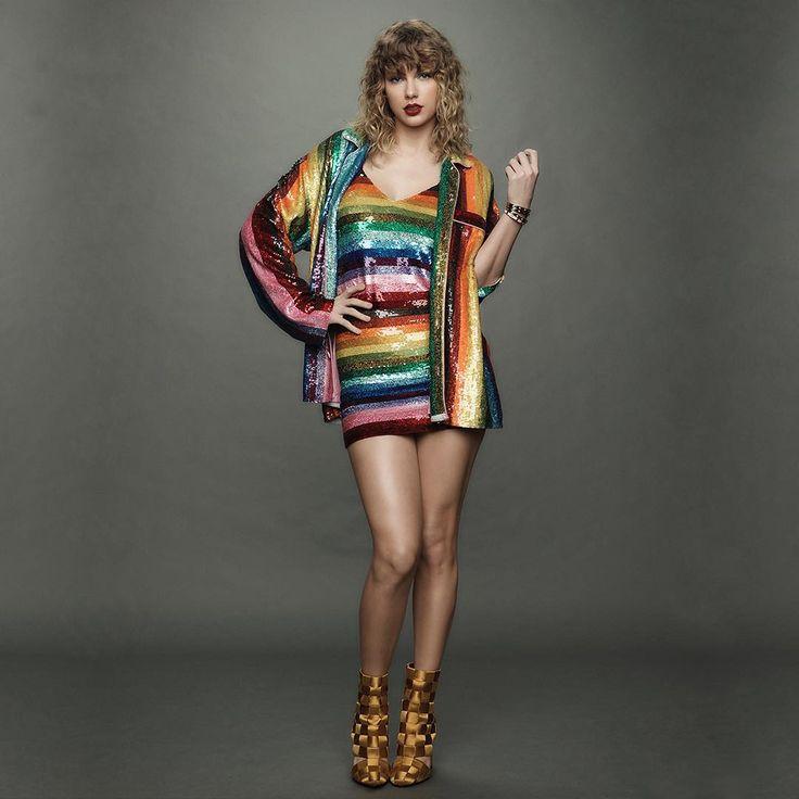 Taylor Swift wearing Ashish on Instagram