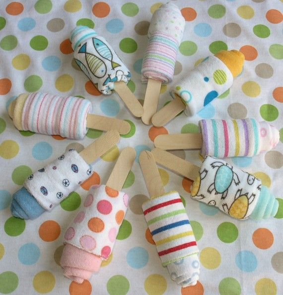 Baby Washcloth Popsicle Baby Shower Gift