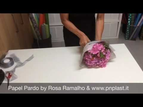 Flowers wrap - Bouquet #wrapflowers - YouTube