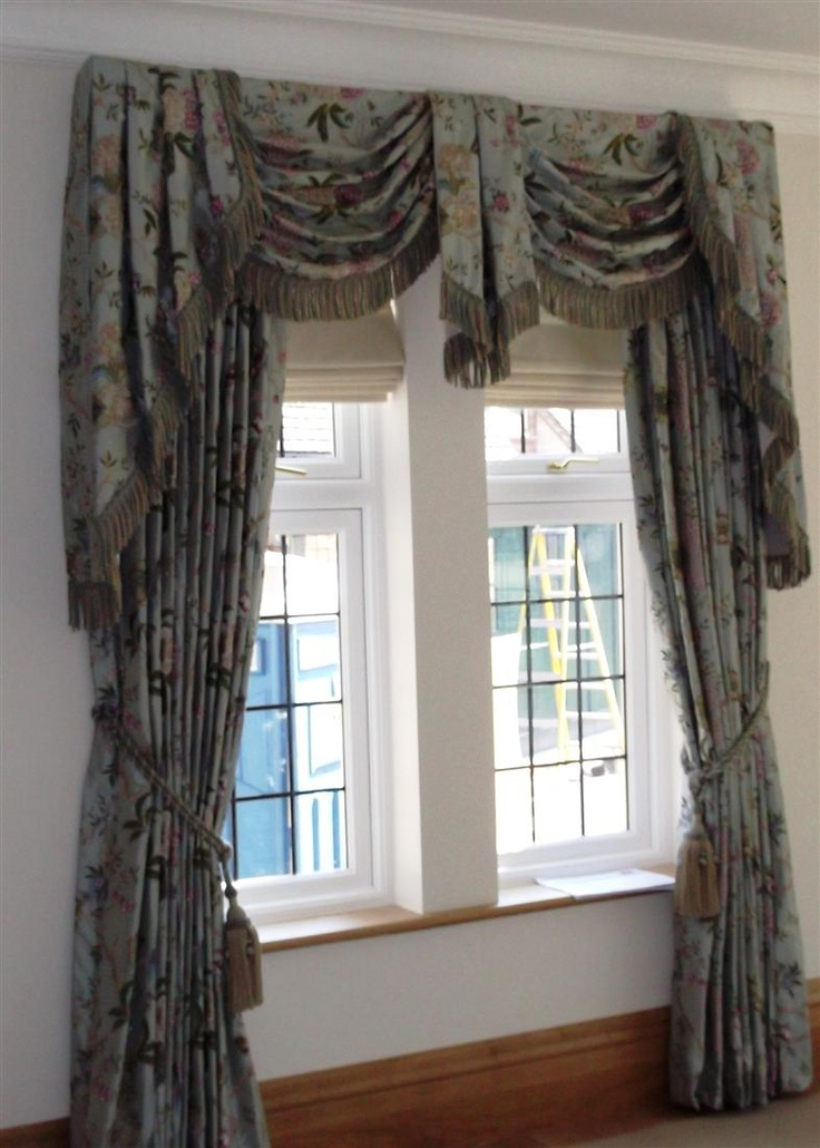 17 best images about window treatments on pinterest for 3 window curtain design