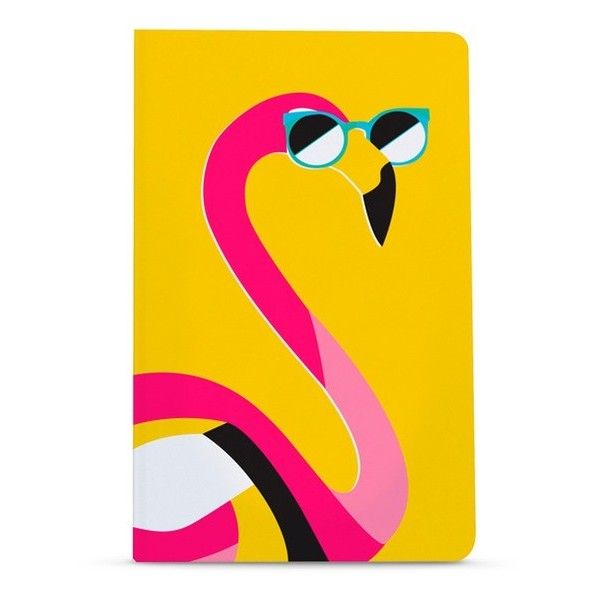 Denik Flamingo notebook ($15) ❤ liked on Polyvore featuring home, home decor and stationery