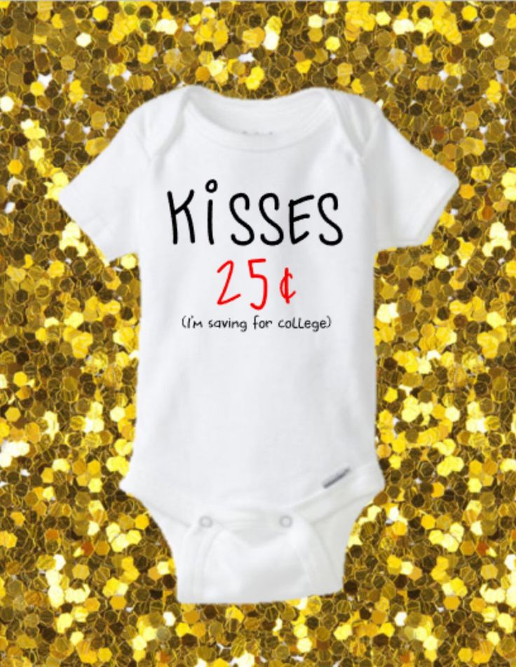 Kisses Onesie, Valentines Onesie, Cute Onesie, Glitter Onesie, Valentine's Day Onesie, Valentine's Day Outfit, First Valentines, by kreationsbychristine on Etsy https://www.etsy.com/listing/260958062/kisses-onesie-valentines-onesie-cute