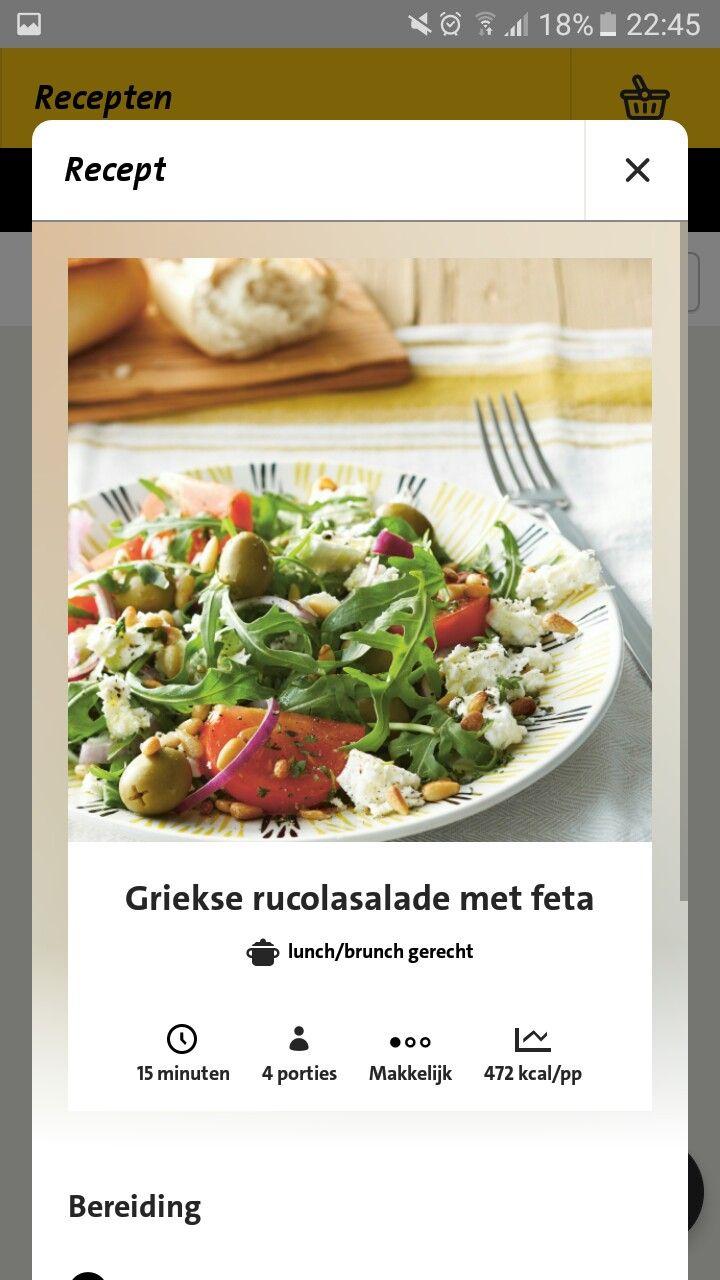 Griekse rucolasalade met feta
