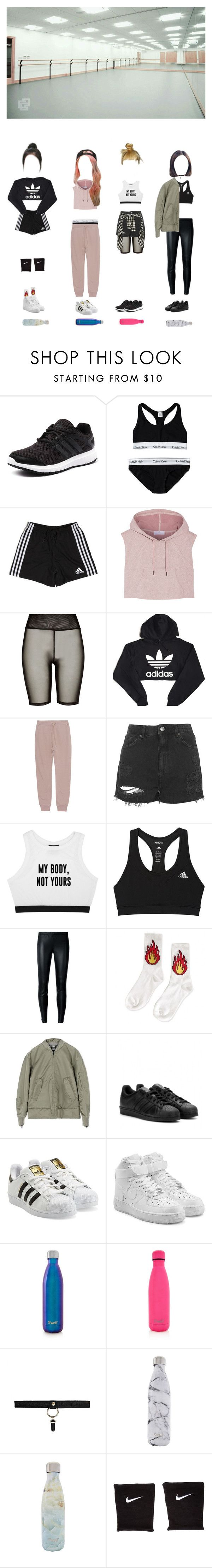 """""""GIRLDEM - """"CRUSH"""" Dance Practice Video"""" by girldem-official ❤ liked on Polyvore featuring adidas, Calvin Klein, River Island, T By Alexander Wang, Topshop, Minga, MICHAEL Michael Kors, adidas Originals, NIKE and S'well"""