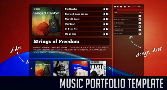 music portfolio template. http://tympanus.net/Development/MergingImageBoxes/