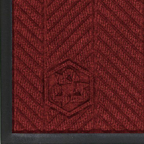 Andersen 2240 Regal Red PET Polyester Waterhog ECO Elite Entrance Mat, 6' Length x 4' Width, For Indoor by Andersen. $120.62. WaterHog construction and performance is combined with a 100 percent post consumer recycled PET polyester fiber system that is reclaimed from plastic bottles and a 100 percent rubber backing that contains 15 to 20 percent post consumer car tire rubber. The new herringbone pattern complements WaterHog Eco Elite Roll Goods and delivers an upsca...