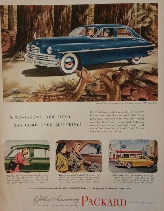 1949 Packard Car Advertisement Packard Ads Print Ads 1949 1940s