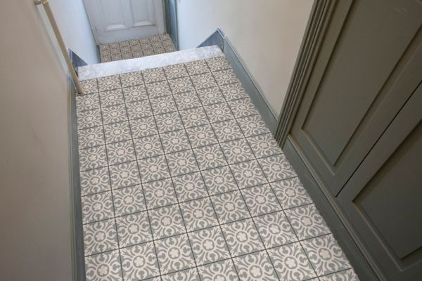 Carrelage ciment couloir entree pinterest - Carrelage aspect carreaux de ciment ...