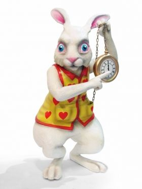Giant 3D Alice in Wonderland White Rabbit