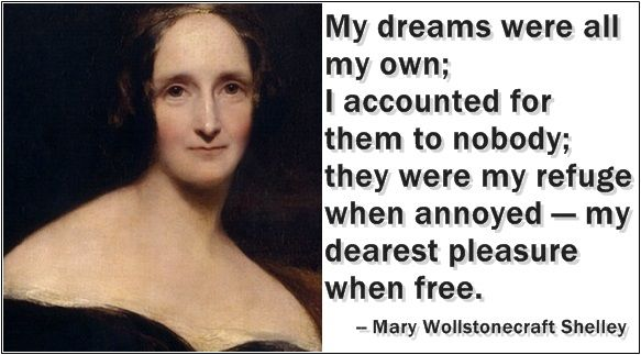 Celebrate the birth of the mother of science fiction, Mary Wollstonecraft Shelley, with these quotes from her most well-known work, Frankenstein.