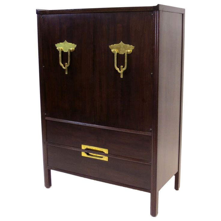 Widdicomb Cabinet in the Asian Manner | From a unique collection of antique and modern wardrobes and armoires at https://www.1stdibs.com/furniture/storage-case-pieces/wardrobes-armoires/