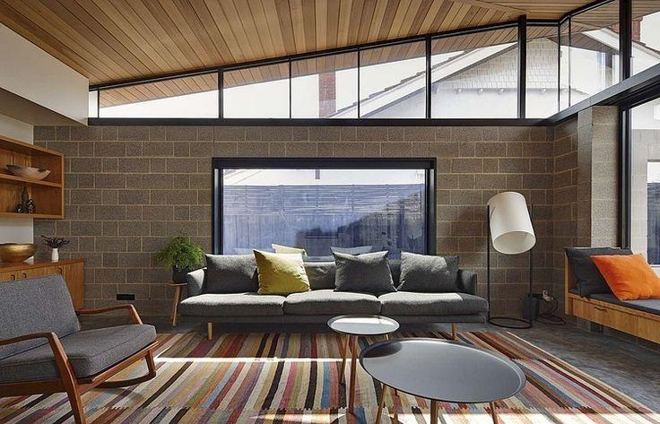 Newly built infill house definitely looks midcentury. Fairfield Hacienda by MRTN Architects, Melbourne.