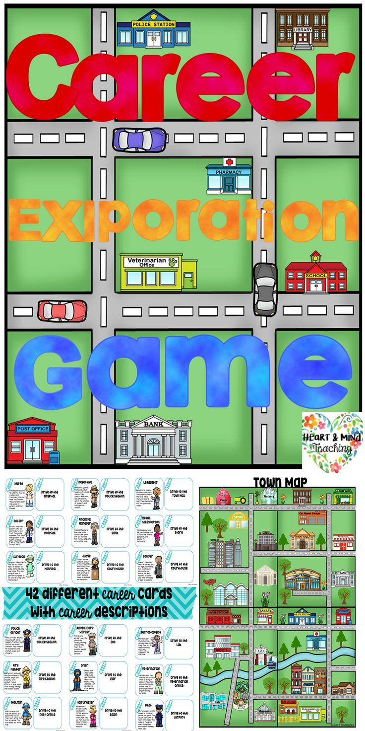 Career Exploration Board Game Career exploration, Career