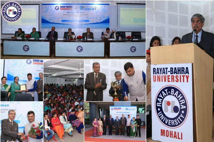 """University School of Sciences organized a National Seminar on """"Science & Technology for Sustainable Future"""" on Tuesday 27th Feb, 2018. Prof. Navdeep Goyal, Chairman, Physics Department, PU, Chandigarh, who presided over the function as Chief Guest underlined the importance of technological advancements to create a sustainable world for the coming generation.  #RayatBahraUniversity #RBU #RayatBahra Visit: www.rayatbahrauniversity.edu.in"""
