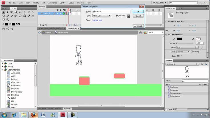 Tutorial: Jogo de plataforma em flash - Parte 01