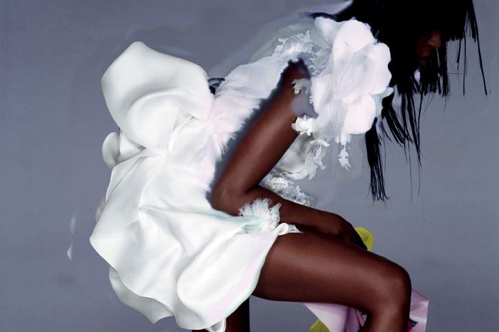 """""""Naomi""""  in Naomi Campbell Christian Lacroix Spring 2007 Couture by Nick Knight  for  V magazine Summer 2007. #editorial"""