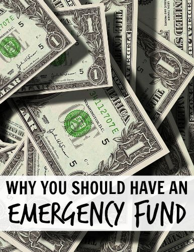 No matter what age you are, I believe every person should have some kind of emergency fund.