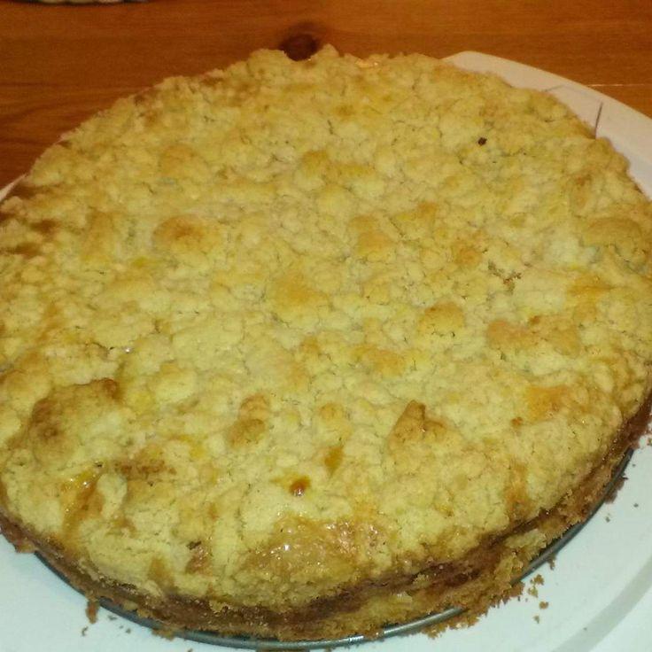 Rezept Apfelkuchen mit Schmand und Streuseln von anitab. - Rezept der Kategorie Backen süß