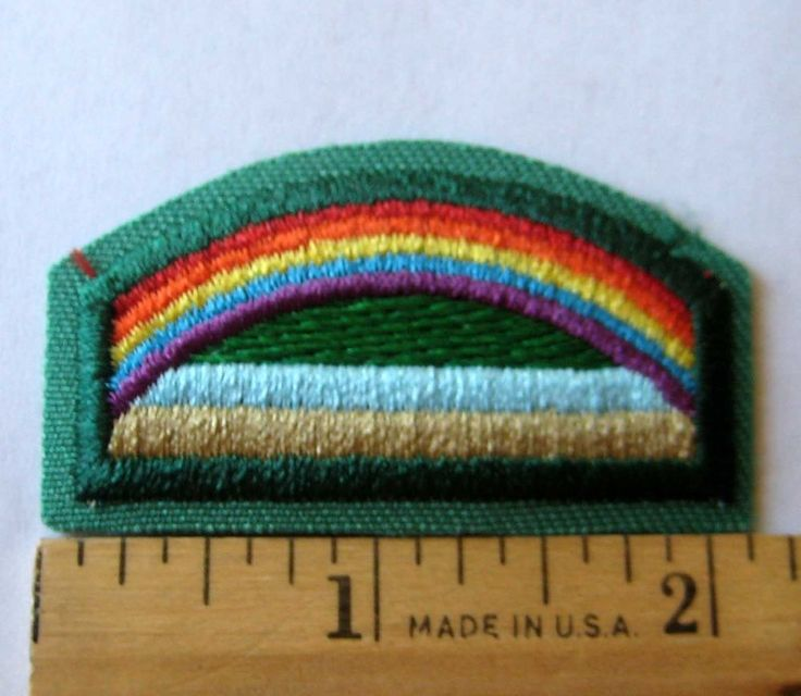 Retired Girl Scout Daisy BRIDGE TO BROWNIE Rainbow Uniform Patch Badge NEW #BadgesPatches