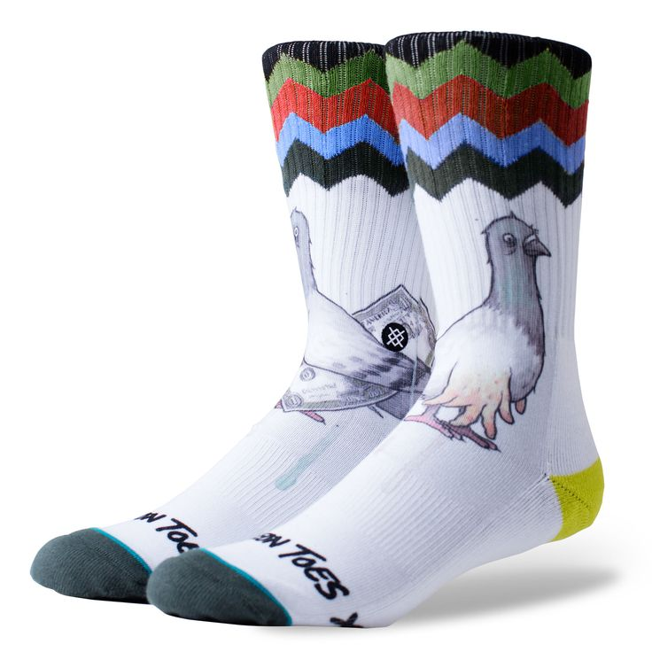 Stance - Calze Cashfoot Todd Francis Skate - White