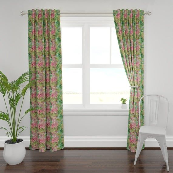 Bohemian Curtain Panel Bohemian Paradise By Floramoon Tropical