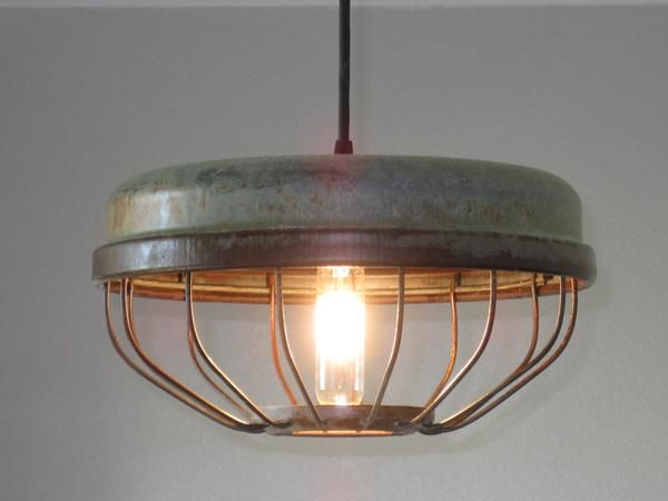 Chicken Feeder Industrial Pendant Light - Out of the Woodwork Designs