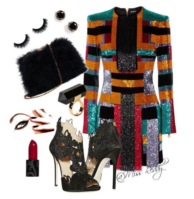 I was born to shine by missreddy on Polyvore featuring polyvore, fashion, style, Balmain, La Perla, Kate Spade and Monki