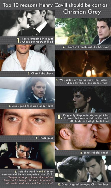 Henry Cavill for Fifty Shades of Grey. I've said this all along!