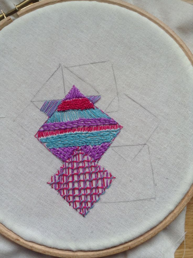 Embroidery project - squares