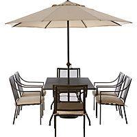 Rimini 6 Seater Metal Garden Furniture Set