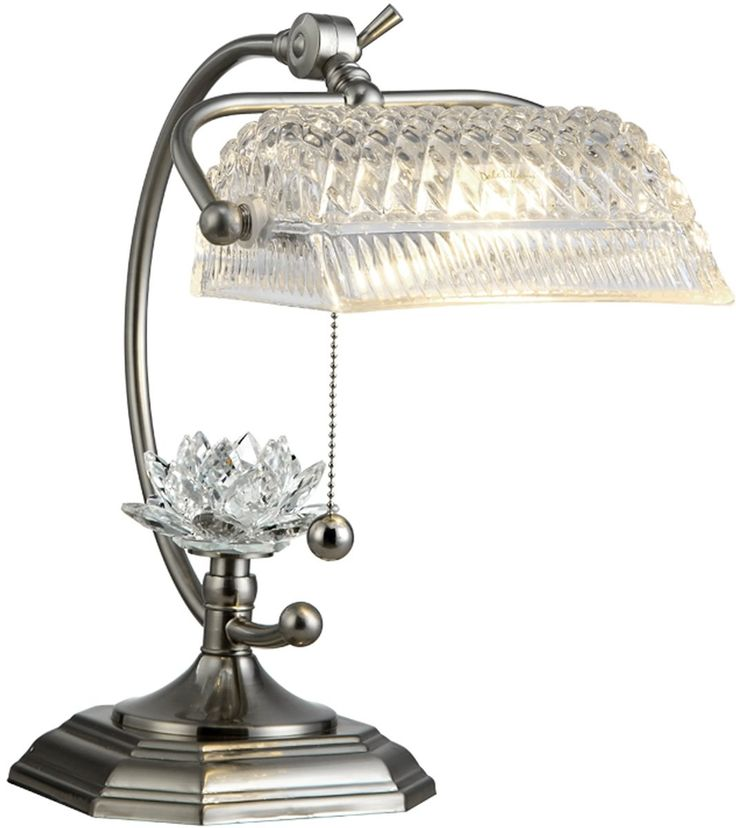 NEW Dale Tiffany Althea 1-Light Table Lamp Satin Nickel GT12208
