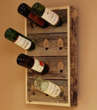 Wall Mounted Wine Rack (12 Bottle) Home
