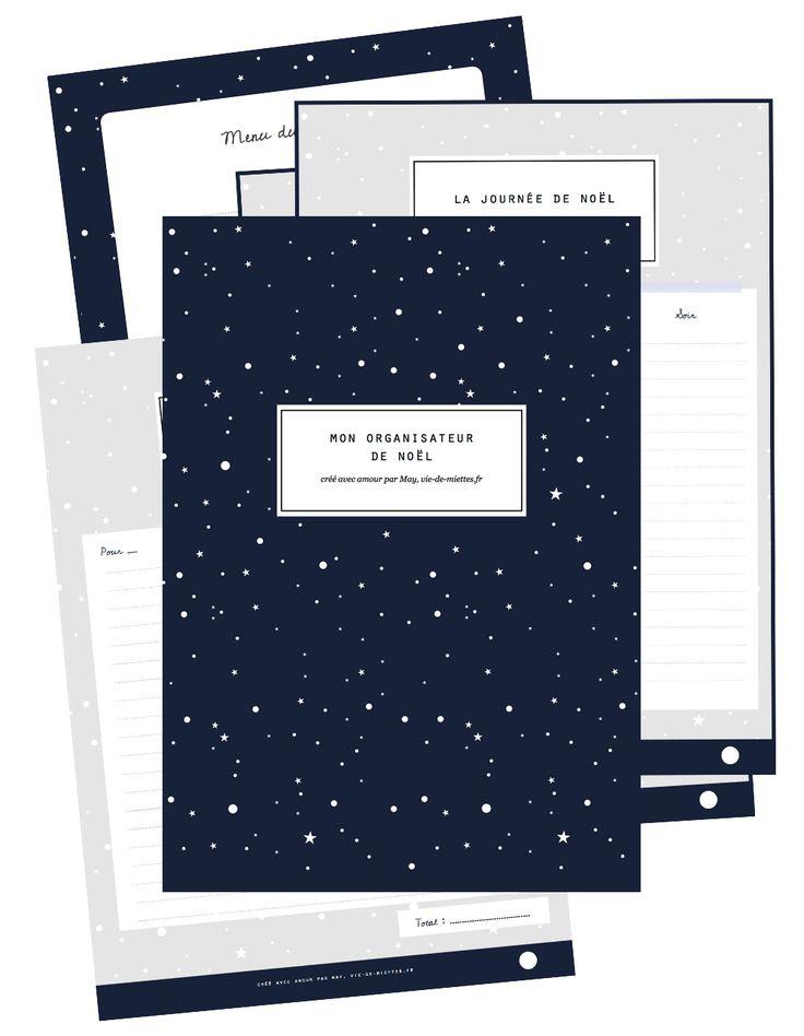Organisateur de Noël à imprimer - Vie de Miettes