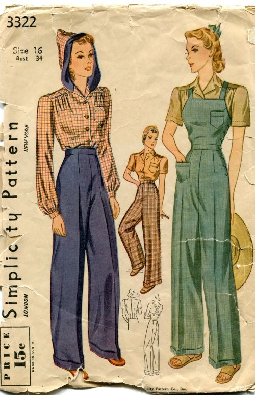 Simplicity 40's overall pattern from the US.