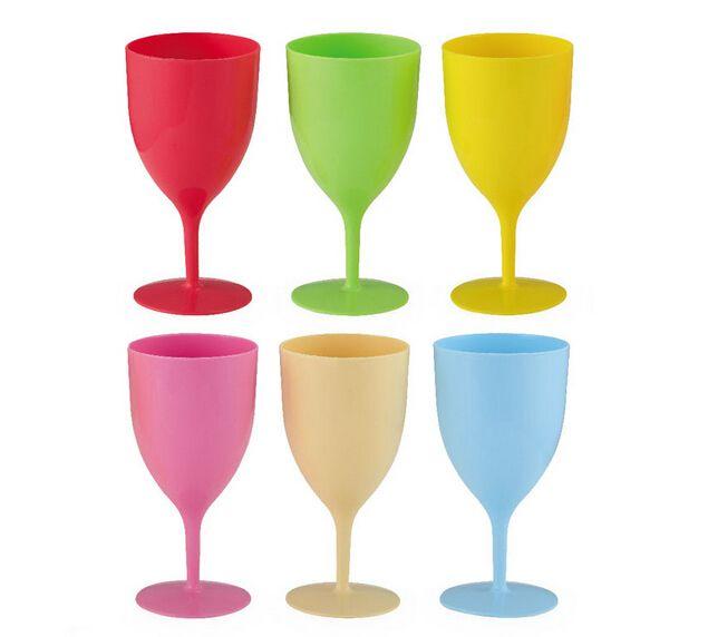 Günstige 6 Teile/satz Bunte Kunststoff Fallschutz Weinkelch Wein Stehen Cups copo, Kaufe Qualität Weingläser direkt vom China-Lieferanten: 6 Teile/satz Bunte Kunststoff Fallschutz Weinkelch Wein Stehen Cups copo