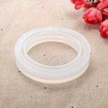 Proste okrągłe silikonowe bransoletki Mould Jewelry Making Prezent Bransoletka Resin DIY Biżuteria Casting Mold Narzędzie silikonowe Miniatures (Chiny (kontynentalne))
