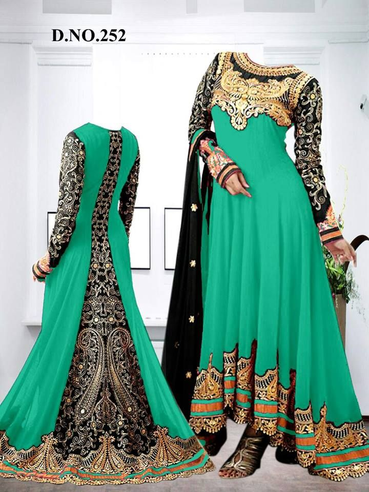 Latest Embroidered #Designer #Anarkali #Suits Collection www.fashion4style.com/woman/clothing